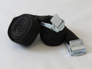 Strap set 2pc. 25mmx2m metal cam buckle 180kg