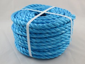 Polypropylene rope 12mm x 30m blue