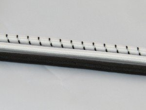 8mm shockcord White/fleck per metre