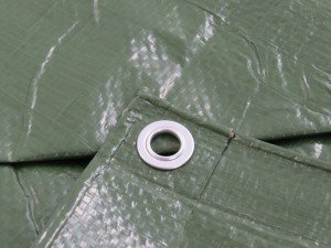 Waterproof Square Medium Duty Tarpaulin 110g 3m x 3m Green