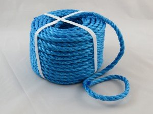 Polypropylene rope 8mm x 30m blue